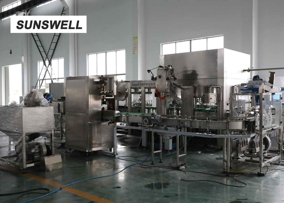 Capacity 2000bph HDPE Bottle Filling Machine For Tea Drinks And Fruit Juice