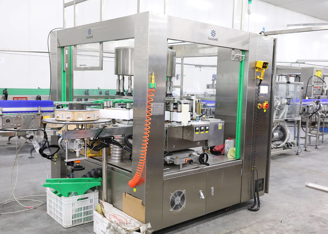Automatic Bottle Labeling Machine For OPP Hot Melt Glue Label Sticker