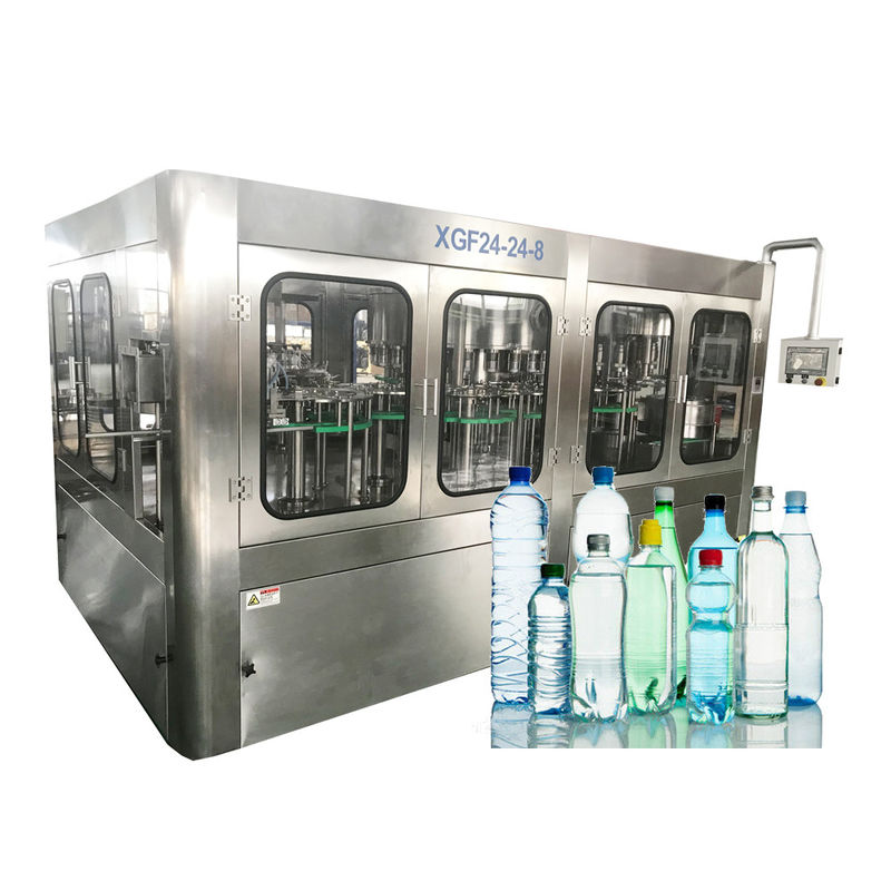 Automatic A To Z Turnkey 3 In 1 Pure Water Filling And Sealing Machine For PET Bottle