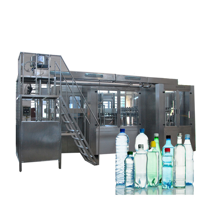 Complete Automatic Water Bottle Filling Machine With Washing Screwing 3 In 1 Monoblock