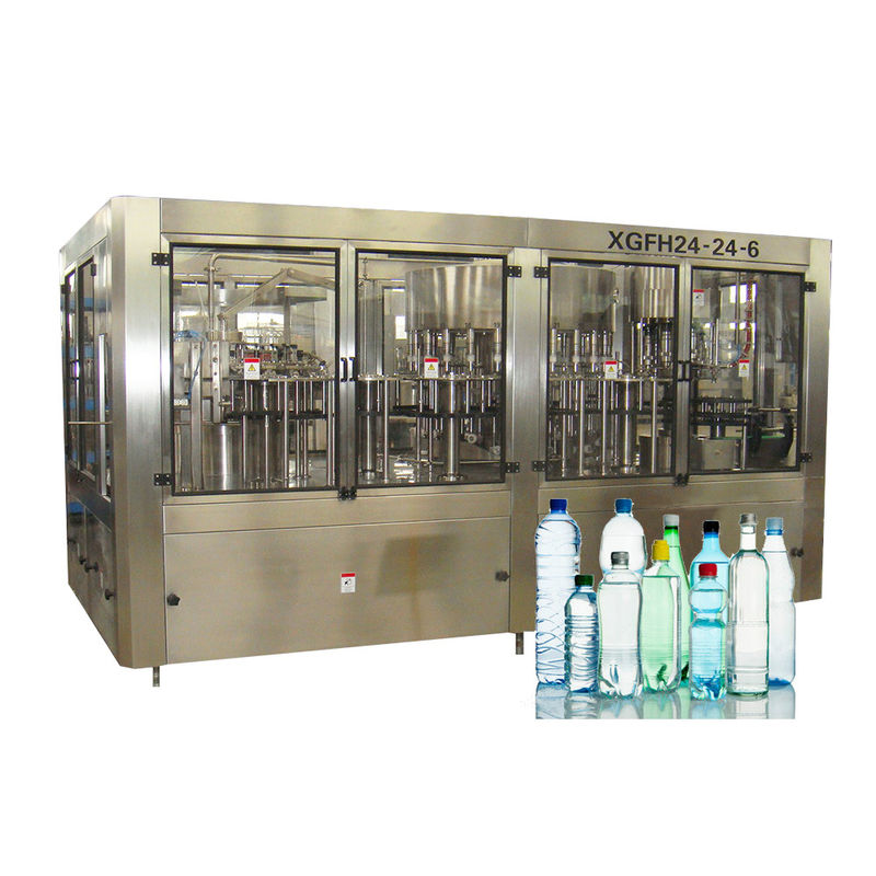 Pure Water Filling Machines Spring Rinser Filler Capper CE ISO SGS Certification