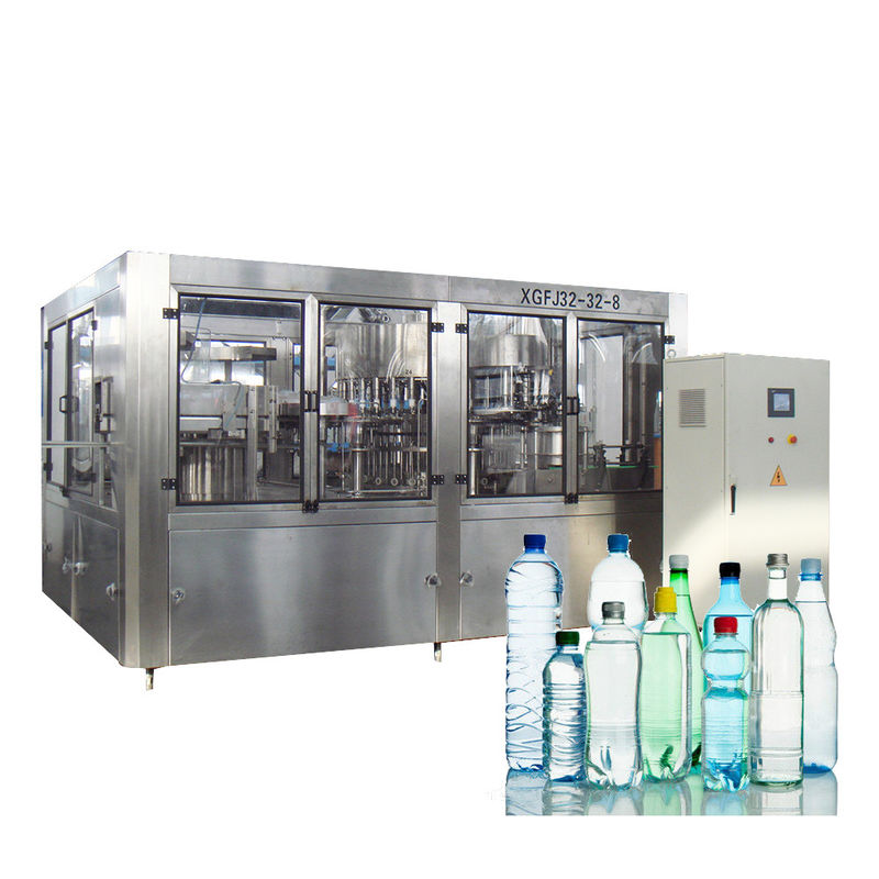 10000BPH Washing Filling And Capping Machine Small Scale Bottle Liquid Water Level Sensor