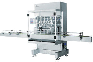 Automatic Pneumatic Liquid Piston Filling Machine 2 heads, with 6m standard conveyor