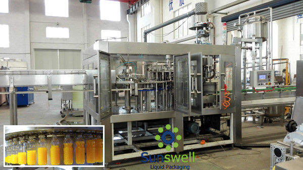 3 In 1 Juice Filling Machine Automatic With Water Treatment Line